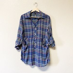Anthropologie Tracy Reese Plaid Tunic Blouse